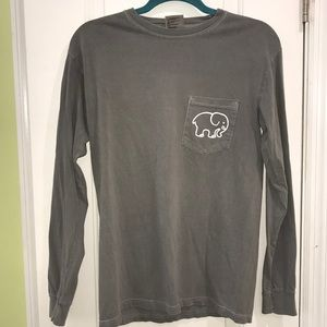 358cc20152ed2 ivory ella Tops - Grey Ivory Ella Elephant Pocket Print Longsleeve T